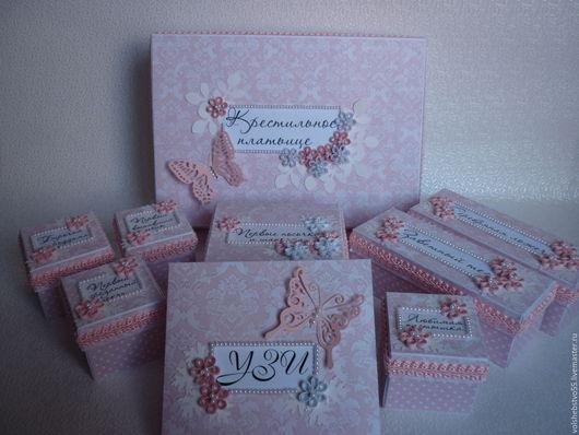 Подарки для новорожденных, ручной работы. Ярмарка Мастеров - ручная работа. Купить Мамины сокровища для девочки с ангелочком. Handmade. Розовый