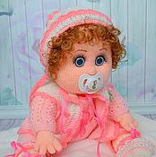 Куклы и игрушки ручной работы. Ярмарка Мастеров - ручная работа Кукла пупс вязаная с соской (Аленушка). Handmade.