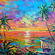 'Sunset Paradise' original oil painting on canvas, Pictures, Voronezh,  Фото №1
