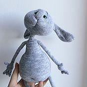 Куклы и игрушки ручной работы. Ярмарка Мастеров - ручная работа Вязаный заяц Бублик серенький. Handmade.
