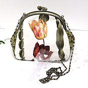 Сумки и аксессуары ручной работы. Ярмарка Мастеров - ручная работа Женская сумочка клатч невесты Тюльпан Белая сумка Подарок женщине. Handmade.