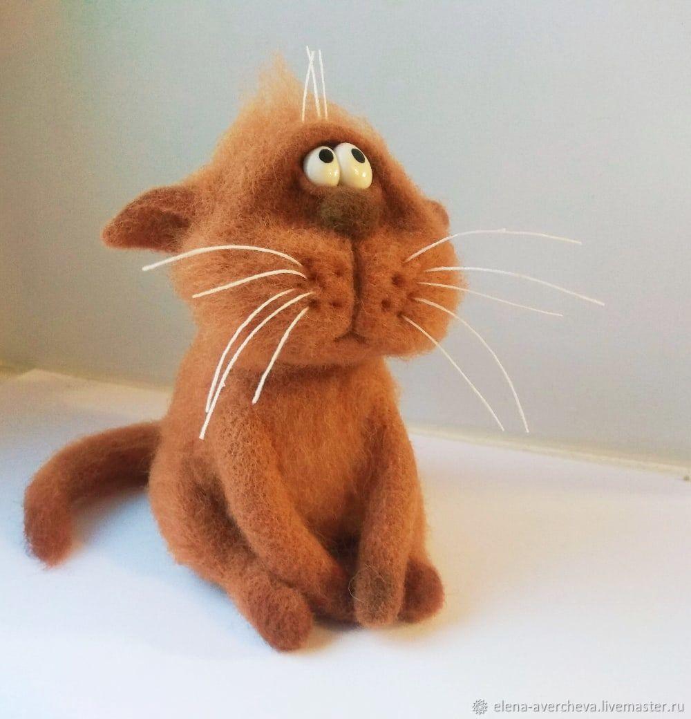 Грустный кот, Войлочная игрушка, Санкт-Петербург,  Фото №1