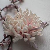 Свадебный салон ручной работы. Ярмарка Мастеров - ручная работа Бело-розовая хризантема. Handmade.