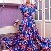 Одежда ручной работы. Ярмарка Мастеров - ручная работа Штапельное платье в пол Анабель 2. Handmade.