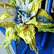 """Броши ручной работы. Ярмарка Мастеров - ручная работа. Купить брошь-цветок из шерсти """"Холодное солнце"""". Handmade. Желтый"""