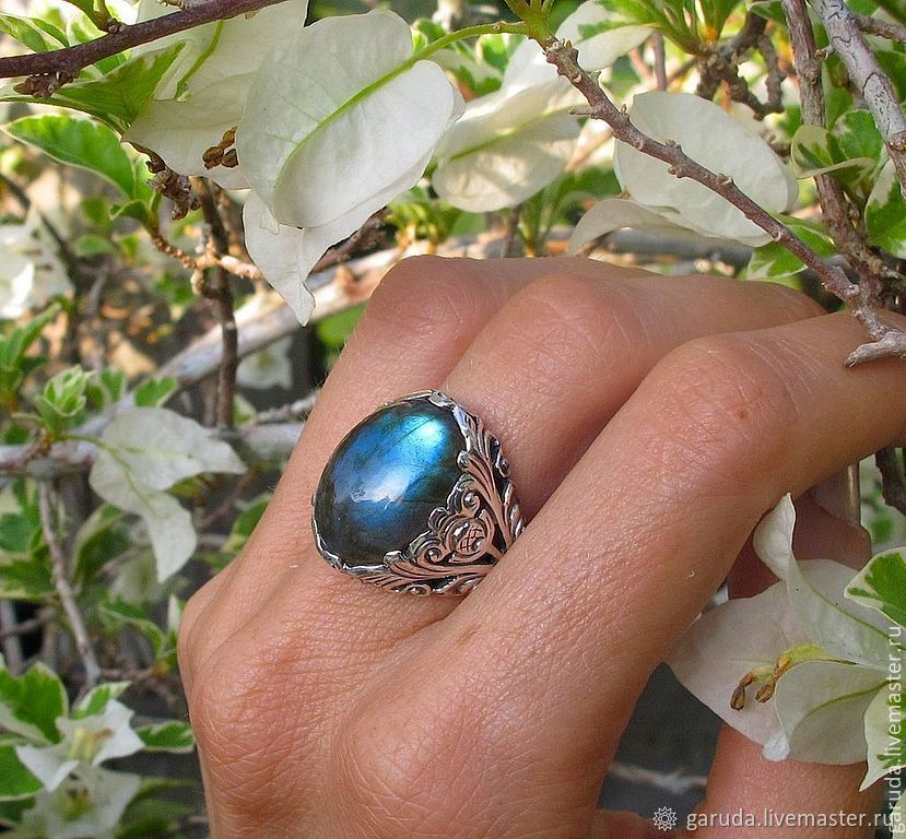 Ring 'flora' with labradorite, Rings, Ubud,  Фото №1