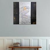 """Картины и панно ручной работы. Ярмарка Мастеров - ручная работа Интерьерная  картина с рельефом """"Перья"""". Handmade."""