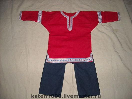 Одежда ручной работы. Ярмарка Мастеров - ручная работа. Купить Детский костюм в русском стиле.. Handmade. Рубаха