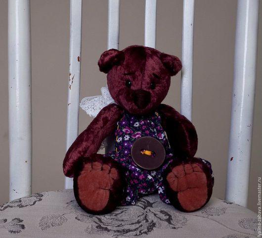 """Мишки Тедди ручной работы. Ярмарка Мастеров - ручная работа. Купить Мишка плюшевый """"Масяня"""". Handmade. Бордовый, мишка тедди"""