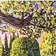 Пейзаж ручной работы. картина вышитая лентами и гладью. Марина. Интернет-магазин Ярмарка Мастеров. Готовый набор, принты, мулине
