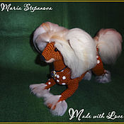 Подарки к праздникам ручной работы. Ярмарка Мастеров - ручная работа Китайская хохлатая собака крючком. Handmade.