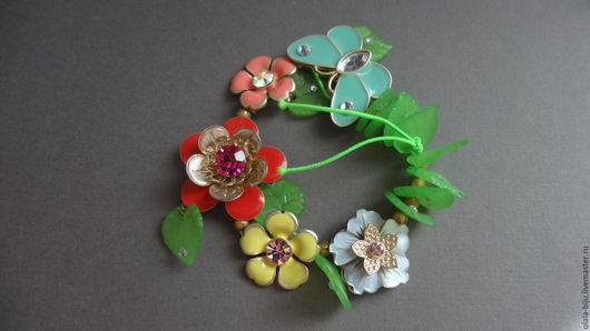 """Браслеты ручной работы. Ярмарка Мастеров - ручная работа. Купить браслет """"цветочный"""". Handmade. Комбинированный, Браслет ручной работы, лето"""