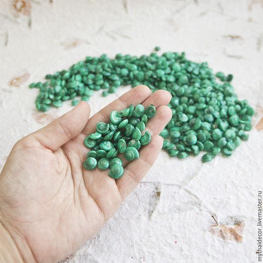 Другие виды рукоделия ручной работы. Ярмарка Мастеров - ручная работа. Купить 100 гр зеленые морские ракушки. Handmade.