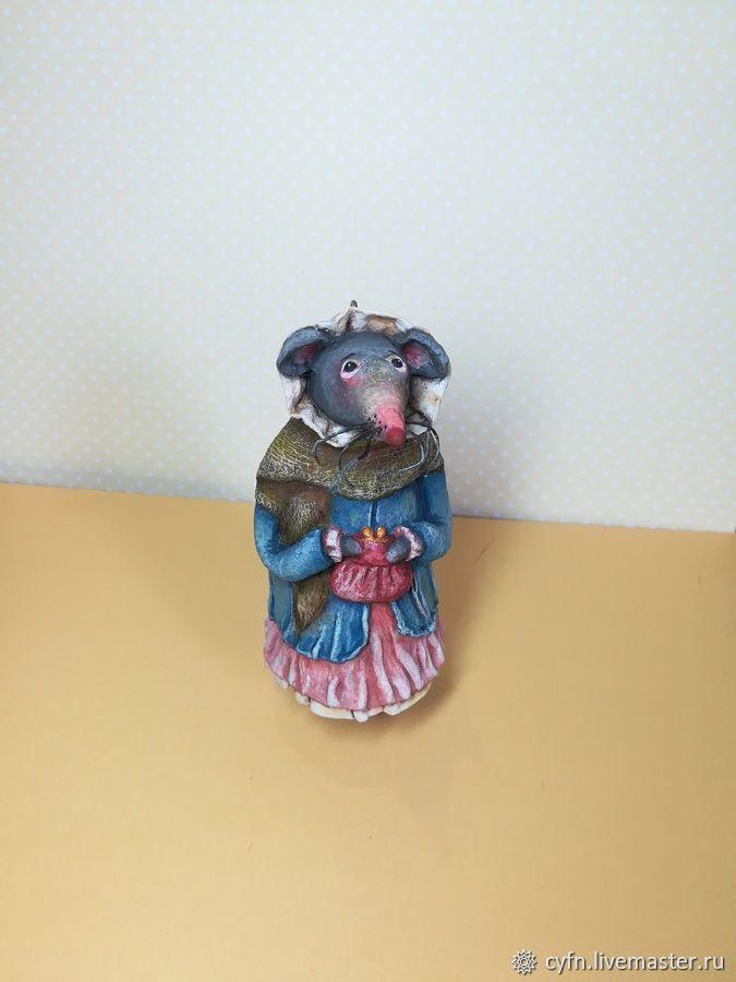 Крыса домашняя. Ватная игрушка. Ёлочная игрушка, Мягкие игрушки, Новосибирск,  Фото №1