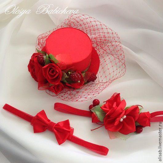 """Детская бижутерия ручной работы. Ярмарка Мастеров - ручная работа. Купить Набор для принцессы """"Красные розы"""". Handmade. Ярко-красный"""