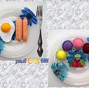 Куклы и игрушки ручной работы. Ярмарка Мастеров - ручная работа Полдник сладкоежки (11 предметов - еда из фетра).. Handmade.