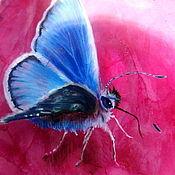 """Украшения ручной работы. Ярмарка Мастеров - ручная работа Кулон """"Бабочка и божья коровка"""". Handmade."""