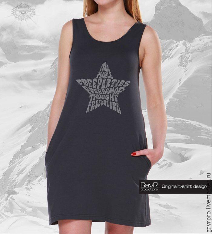 Женская майка-платье с карманами STAR