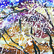 Order Watercolor 'Cherry Blossom'. Multicolor Gallery. Livemaster. . Pictures Фото №3