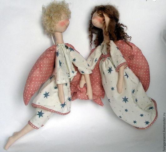 Куклы тыквоголовки ручной работы. Ярмарка Мастеров - ручная работа. Купить Ангелочки любви и семейного счастья. Handmade. Тыквоголовка
