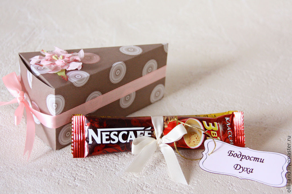 Торт из бумаги с подарками 61