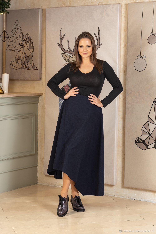 Шерстяная юбка 4 клина на кокетке темно-синяя – купить на Ярмарке Мастеров – K3SS8RU | Юбки, Новосибирск