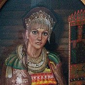 Картины и панно handmade. Livemaster - original item The author`s picture of the Mistress. Russian beauty.. Handmade.
