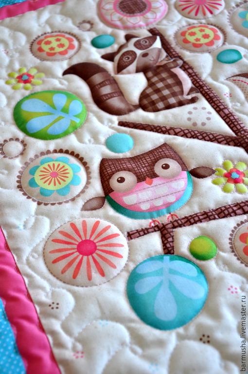 """Пледы и одеяла ручной работы. Ярмарка Мастеров - ручная работа. Купить Детский лоскутный плед (одеяло) """" Лесные друзья"""". Handmade."""