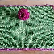 Для дома и интерьера ручной работы. Ярмарка Мастеров - ручная работа Салфетка цветы. Handmade.