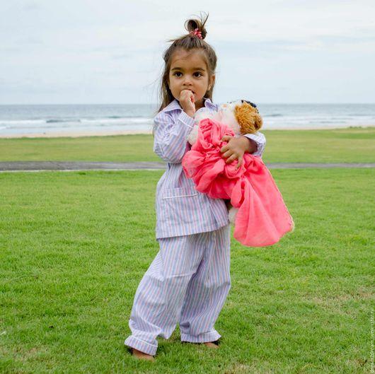 Одежда унисекс ручной работы. Ярмарка Мастеров - ручная работа. Купить Детская пижама Classic Pajamas BIANCO. Handmade. В полоску