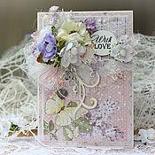 Открытки handmade. Livemaster - original item Floral card With love. Handmade.