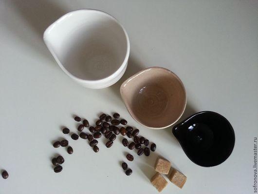 Чайники, кофейники ручной работы. Ярмарка Мастеров - ручная работа. Купить Сливочники и соуники. Handmade. Чёрно-белый, набор