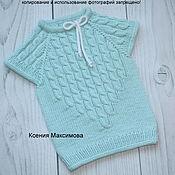 Одежда handmade. Livemaster - original item vests: Bertha from the family of Pigtails half-hair size 86-92. Handmade.