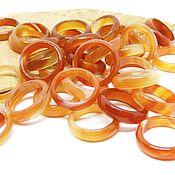 Украшения handmade. Livemaster - original item Ring of agate, carnelian, fire Dance 17 size. Handmade.