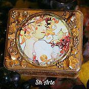 Для дома и интерьера handmade. Livemaster - original item Box Grape autumn. Handmade.