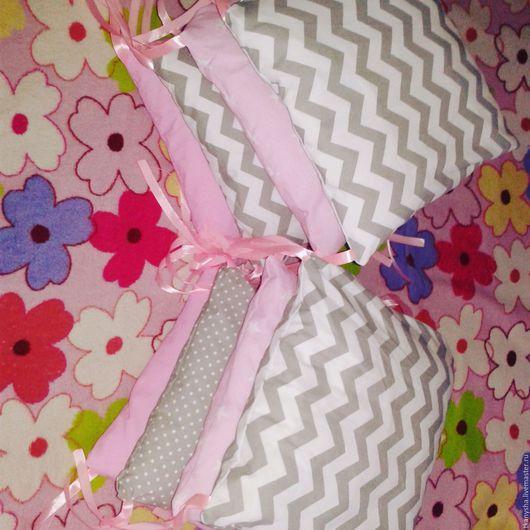 Детская ручной работы. Ярмарка Мастеров - ручная работа. Купить Бортики -подушки в детскую кроватку. Handmade. Белый, хендмейд