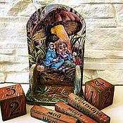 Канцелярские товары handmade. Livemaster - original item Perpetual calendar of Hedgehogs in Love. Handmade.