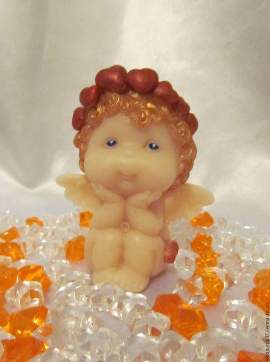 """Мыло ручной работы. Ярмарка Мастеров - ручная работа. Купить Мыло сувенирное """"Задумчивый ангелочек"""".. Handmade. Ангел, ангелы"""