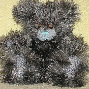Куклы и игрушки ручной работы. Ярмарка Мастеров - ручная работа Серый мишка с голубым носом (Me to you). Handmade.