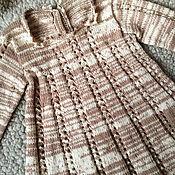 Работы для детей, ручной работы. Ярмарка Мастеров - ручная работа Платье шерстяное молочно-шоколадное на малышку. Handmade.