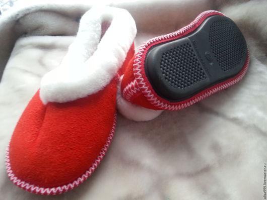 Обувь ручной работы. Ярмарка Мастеров - ручная работа. Купить Тапочки-чувяки из овчины на твёрдой подошве. Handmade. из натурального меха