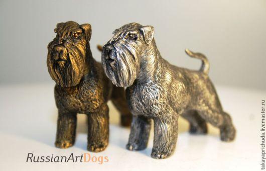 Статуэтки ручной работы. Ярмарка Мастеров - ручная работа. Купить ШНАУЦЕР  - статуэтка (оловянная миниатюрная фигурка собаки). Handmade. шнауцер