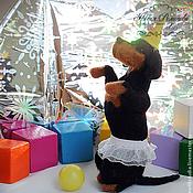 Подарки к праздникам ручной работы. Ярмарка Мастеров - ручная работа Запятайка- цирковая такса. Собака из войлока. Handmade.