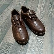 handmade. Livemaster - original item Ostrich leather insulated boots, autumn / spring model.. Handmade.