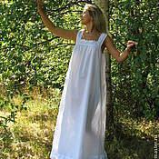 """Одежда ручной работы. Ярмарка Мастеров - ручная работа Батистовая сорочка """"Анжелика длинная """" с отделкой из батистового шитья. Handmade."""