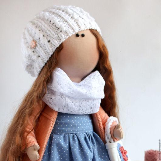 Человечки ручной работы. Ярмарка Мастеров - ручная работа. Купить Интерьерная кукла.. Handmade. Разноцветный, текстильная игрушка, кружевное полотно