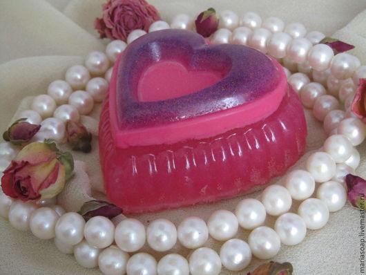 """Мыло ручной работы. Ярмарка Мастеров - ручная работа. Купить Мыло подарочное """"Сердце"""". Handmade. Фуксия, мыло ручной работы"""