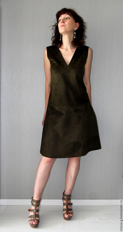 Suede sundress khaki, Dresses, Moscow,  Фото №1
