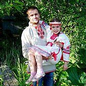 Русский стиль handmade. Livemaster - original item Slavic linen shirt. Handmade.