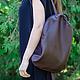 Рюкзаки ручной работы. Заказать Коричневый рюкзак. Алина Нуриахмитова (nuva). Ярмарка Мастеров. Темный шоколад, летний рюкзак